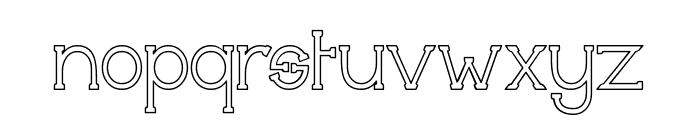 Technically Insane Outline Font LOWERCASE