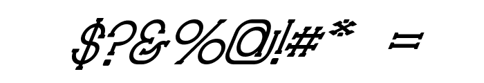 Technically Insane Superitalic Font OTHER CHARS