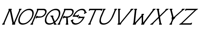 Technically Insane Superitalic Font UPPERCASE