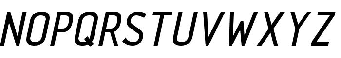TechnicznaPomoc Italic Font UPPERCASE