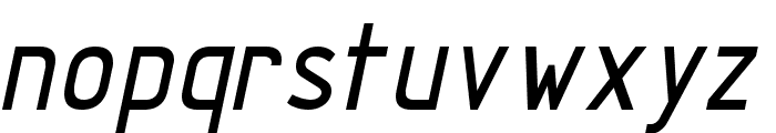 TechnicznaPomoc Italic Font LOWERCASE