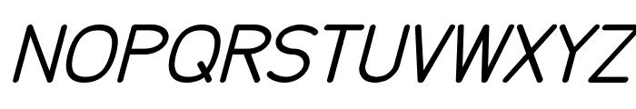Tecnico Grueso Inclinado Font UPPERCASE