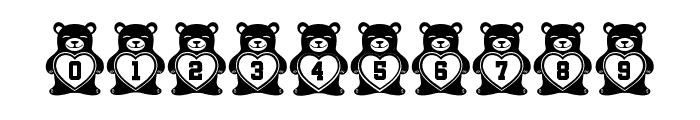 Teddy Bears Regular Font OTHER CHARS