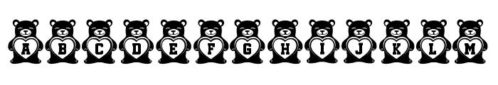 Teddy Bears Regular Font LOWERCASE