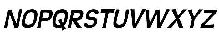 Teen Bold Italic Font UPPERCASE