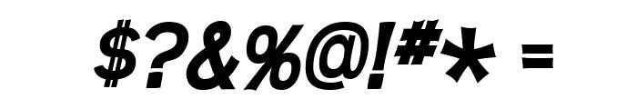 Teen-BoldItalic Font OTHER CHARS