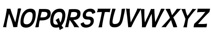 Teen-BoldItalic Font UPPERCASE