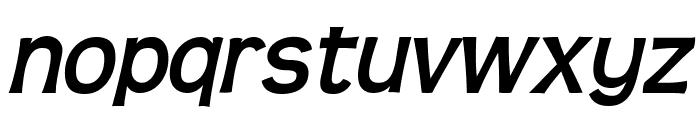 Teen-BoldItalic Font LOWERCASE