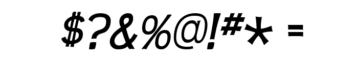 Teen-Italic Font OTHER CHARS