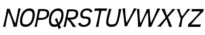 Teen-Italic Font UPPERCASE