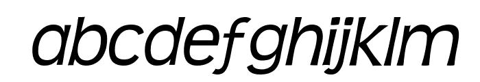 Teen-Italic Font LOWERCASE