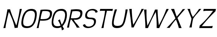 Teen Light Italic Font UPPERCASE