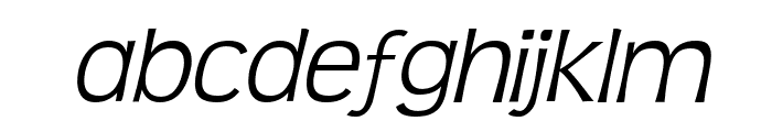 Teen Light Italic Font LOWERCASE