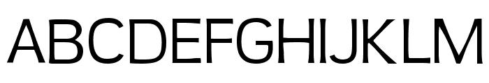 Teen Light Font UPPERCASE