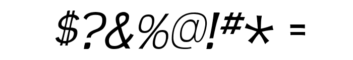 TeenLight-Italic Font OTHER CHARS
