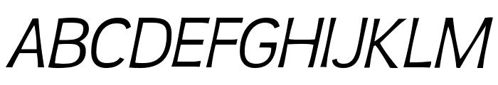 TeenLight-Italic Font UPPERCASE