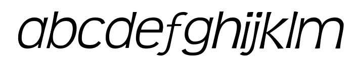 TeenLight-Italic Font LOWERCASE