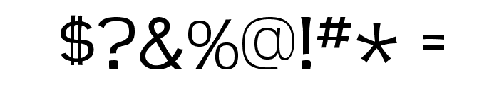 TeenLight-Regular Font OTHER CHARS