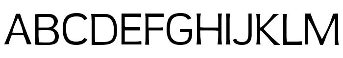 TeenLight-Regular Font UPPERCASE