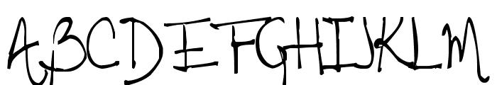 Tehzeta Font UPPERCASE