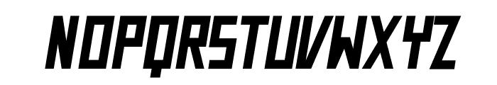 Tekno Italic Font UPPERCASE