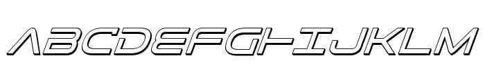 Tele-Marines 3D Italic Font UPPERCASE