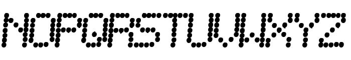 Telegraphic Bold Italic Font UPPERCASE