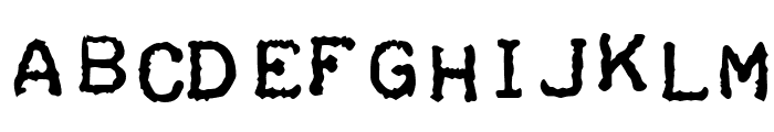 Teleprinter Bold Italic Font UPPERCASE