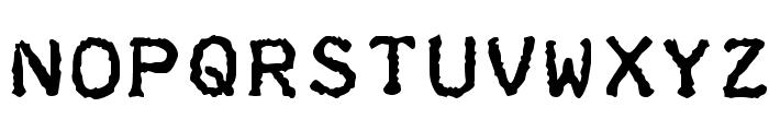 Teleprinter Bold Font UPPERCASE
