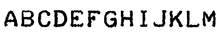 Teleprinter Bold Font LOWERCASE