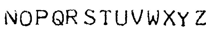 Teleprinter Intalic Font UPPERCASE
