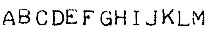 Teleprinter Intalic Font LOWERCASE