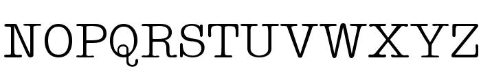 Teletype Regular Font UPPERCASE