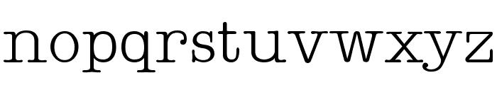 Teletype Regular Font LOWERCASE