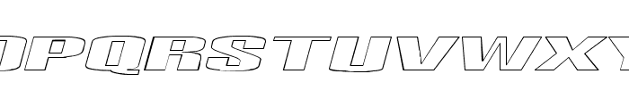 Telford Hollow Italic Font UPPERCASE