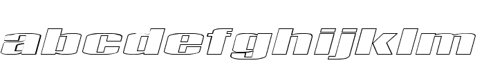 Telford Hollow Italic Font LOWERCASE