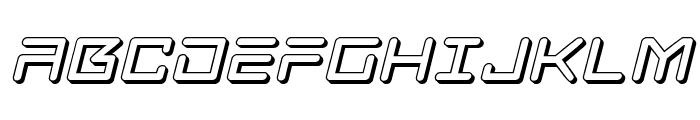 Tempest Apache 3D Italic Font UPPERCASE