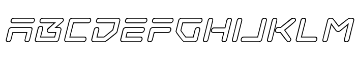 Tempest Apache Outline Italic Font LOWERCASE