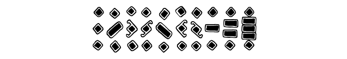Temphis Knotwork Font OTHER CHARS