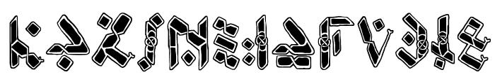 Temphis Knotwork Font UPPERCASE