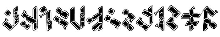 Temphis Knotwork Font LOWERCASE