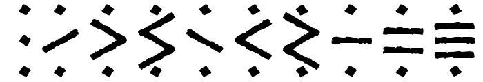 Temphis Sampler Font OTHER CHARS