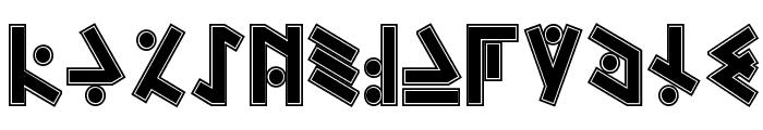 Temphis Sweatermonkey Font LOWERCASE