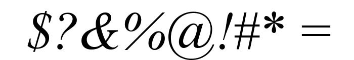 Tempo Esperanto Kursiva Font OTHER CHARS