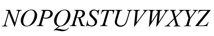 Tempo Esperanto Kursiva Font UPPERCASE