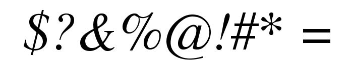 TempoFontItalic Font OTHER CHARS