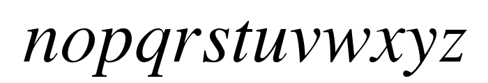 TempoFontItalic Font LOWERCASE