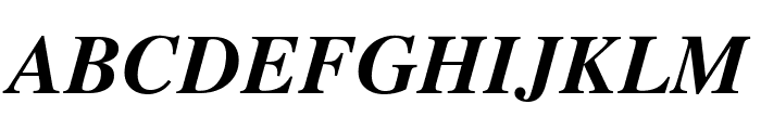 Tempora LGC Unicode Bold Italic Font UPPERCASE
