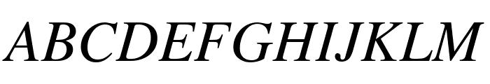 Tempora LGC Unicode Italic Font UPPERCASE