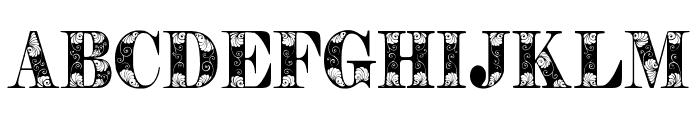 Tendrils Font UPPERCASE